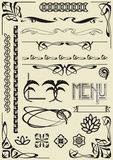 Design elements. Vector set of design elements Royalty Free Stock Photos