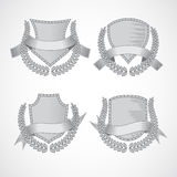 Design elements. Vector set of shields with Laurel Royalty Free Stock Image