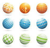 Design elements. Vector set of sphere design elements Royalty Free Stock Photography