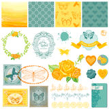 Design Elements - Vintage Ombre Butterflies Stock Images