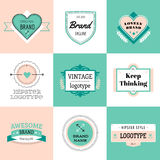 Design elements. Vintage retro style. Arrows Stock Photography