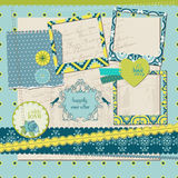 Design Elements - Vintage Tile with frames Royalty Free Stock Image