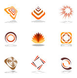 Design elements in warm colors. Vector set 1 Royalty Free Stock Images