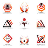 Design elements in warm colors. Royalty Free Stock Image