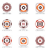Design elements in warm colors. Set 7. Stock Images