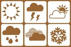 Design Elements - weather. Weather - Design Elements Royalty Free Stock Image