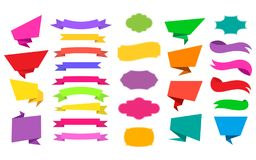 Web Stickers, Tags, Banners and Labels collection. Design elements, web stickers, tags, banners, labels collection and ribbons Vector illustration stock illustration