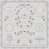 Design elements, wedding invitation,