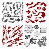 Design elements on white background - vector big Stock Image