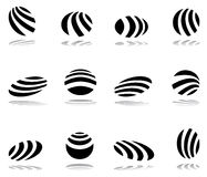 Design elements with zebra pattern Royalty Free Stock Images
