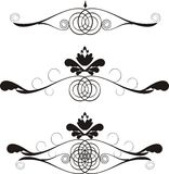 Design ellements. Black & white floral design ellements Royalty Free Stock Image