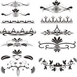 Design ellements. Black & white floral design ellements Stock Photo