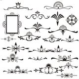 Design ellements. Black & white floral design ellements Stock Photography