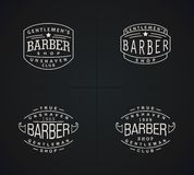 Design emblems for Barbershop Royalty Free Stock Images