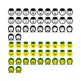 Design emoticon ramadhan greentrik. Emoticon ramadhan for muslim or everyone stock illustration