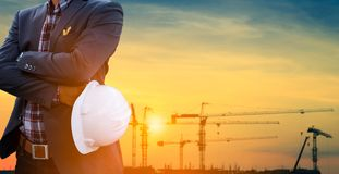 Design Engineer. And Construction Manager Royalty Free Stock Image