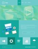 Design Eps 10 för vektorWebsitemall Arkivfoto