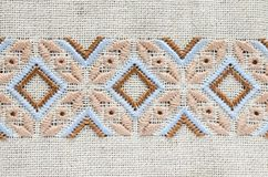 Design of ethnic ornament. Embroidery texture. Royalty Free Stock Photo