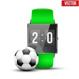 Design example sport wrist Smartwatch. Royalty Free Stock Images