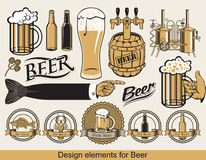 Design för öl Arkivbild