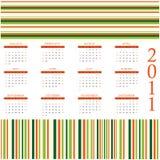 design för 2011 kalender royaltyfri illustrationer