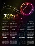 design för 2012 kalender Royaltyfri Illustrationer