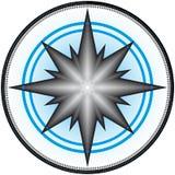 design för 4 kompass Arkivbilder