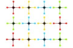 design för 6 all färger stock illustrationer