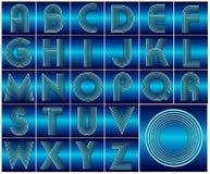 Design för abcalfabetbokstäver Arkivbild