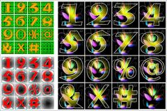 Design för abcalfabetbokstäver Royaltyfri Fotografi