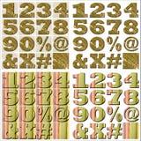 Design för abcalfabetbokstäver Arkivfoton