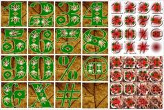 Design för abcalfabetbokstäver Arkivfoto