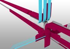 design för abstrakt begrepp 3d Arkivbild