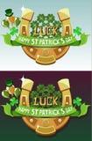 Design för affisch för dag för St Patrick ` s Arkivfoto