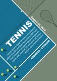 Design för affisch för tennisturnering Affischvektormall arkivfoton