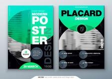 Design för affischmallorientering Affärsaffisch, plakatbakgrundsmodell i ljusa färger Vektorillustration med vektor illustrationer