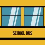 Design för amerikanska blåa fönster för skolbuss plan vektor illustrationer