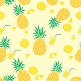 Design för ananassommarbakgrund royaltyfri foto
