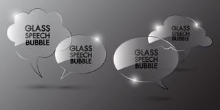 Design för anförandebubblamall Arkivfoto