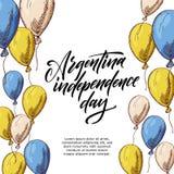 Design för Argentina hälsningkort Kalligrafibokst?ver ocks? vektor f?r coreldrawillustration vektor illustrationer