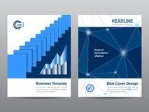 Design för bakgrund för abstrakt begrepp för mall för broschyr för bokbroschyrreklamblad i formatet A4 Fotografering för Bildbyråer