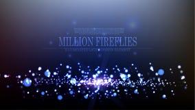 Design för bakgrund för eldflugor för vektorabstrakt begrepp miljon Royaltyfria Bilder