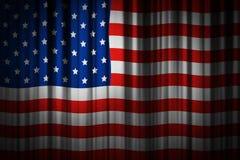 Design för bakgrund för USA etappgardin av amerikanska flaggan Royaltyfri Bild
