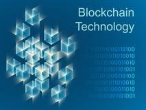 Design för baner för Blockchain begreppsglidare vektor illustrationer