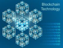 Design för baner för Blockchain begreppsglidare stock illustrationer