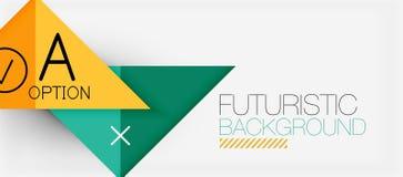 Design för baner för Minimalistic triangel modern, geometriskt abstrakt begrepp Royaltyfri Fotografi