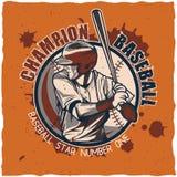 Design för baseballt-skjorta etikett Royaltyfria Bilder