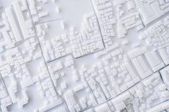 Design för begrepp för arkitekturmodellUrban cityscape royaltyfria bilder