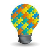 Design för begrepp för ljus kula för idé idérik Arkivbilder