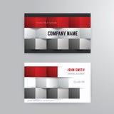 Design för begrepp för mall för affärskort modern abstrakt Royaltyfria Foton